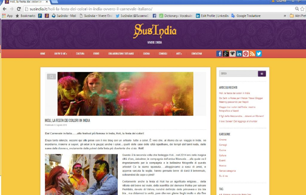 SusIndia | Piccoli blogger crescono