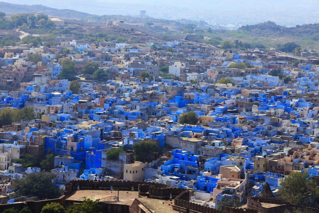Cosa vedere in Rajasthan, Jodhpur vista dal forte