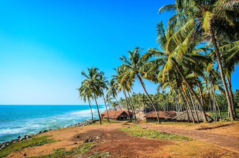 Miglior periodo per un viaggio in Kerala | Spiaggia di Varkala