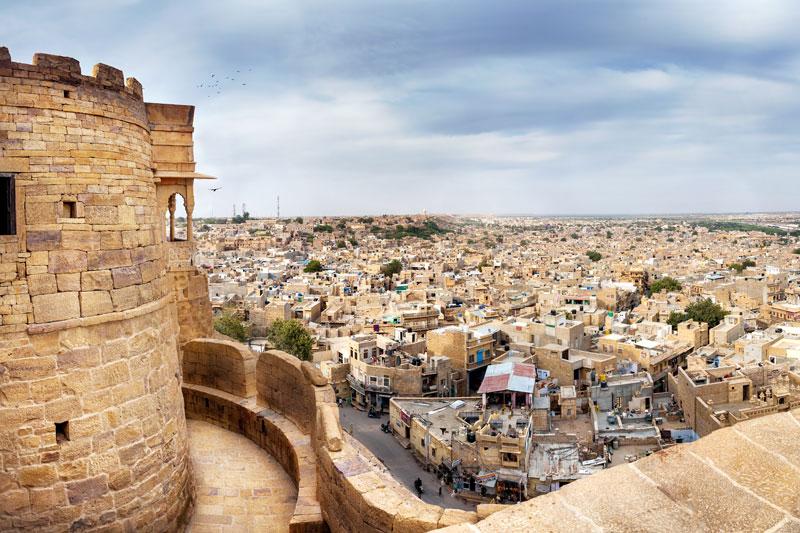 Desert Festival di Jaisalmer | vista dal forte