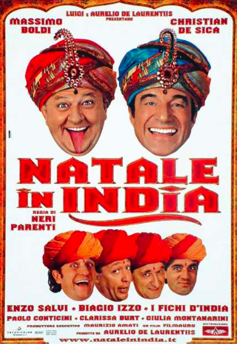 volo diretto Air Italy | Locandina Natale in India