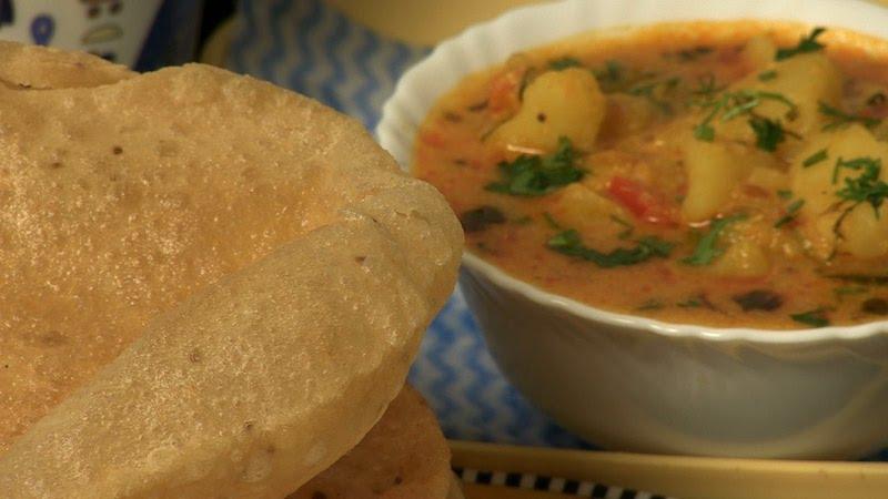 Colazione indiana | aloo poori